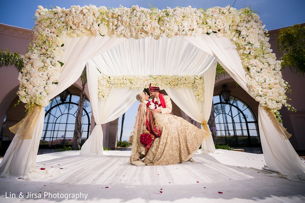 indian bride and groom,indian wedding photography,mandap,floral and decor