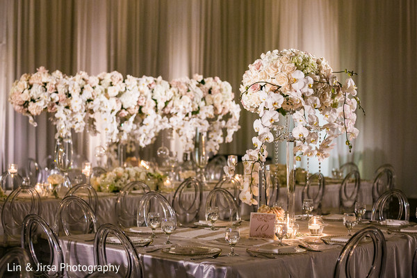 Over the top Indian wedding floral centerpiece.
