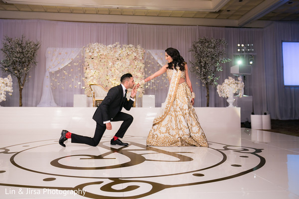 Marvelous Indian newlyweds first dance.