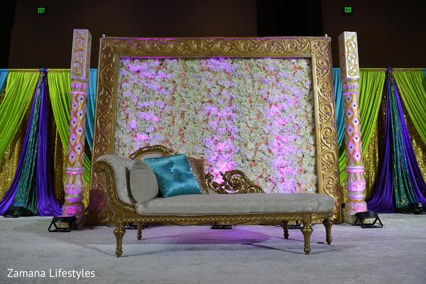 Indian wedding reception stage inspiration