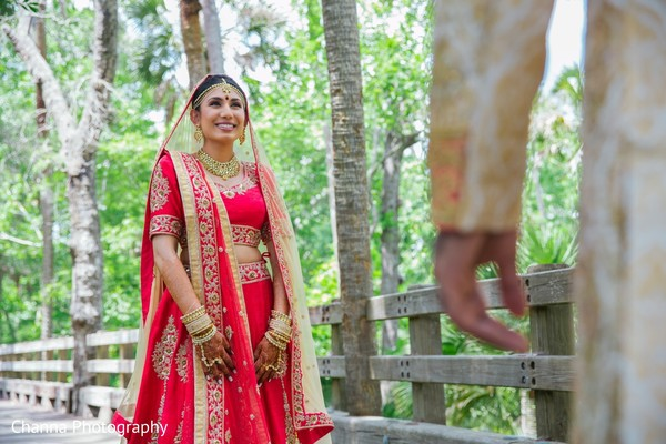 indian bride,first look,outdoor photography,indian wedding photography