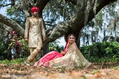 Ravishing Indian wedding portrait.