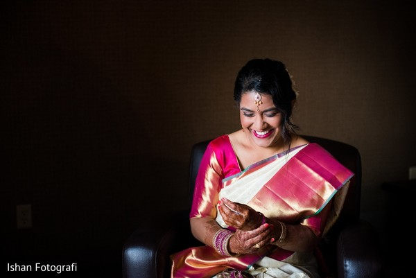 Glowing indian bride ready for her big day
