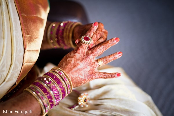 Stunning gold and purple bangles