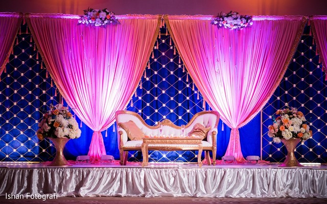 indian wedding decor,indian wedding stage,floral and decor