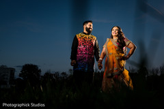 Indian bride and groom to be pre-wedding photography.