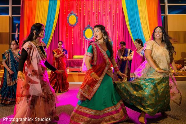 Indian bride sangeet choreography.