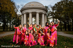 Stunning indian bride with her bridesmaids