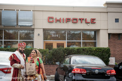 Indian couple fast food stop.