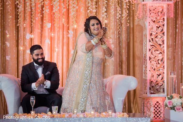 Indian wedding reception whimsical images.