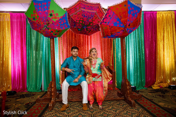 pre- wedding celebrations,sangeet,indian bride and groom,floral and decor
