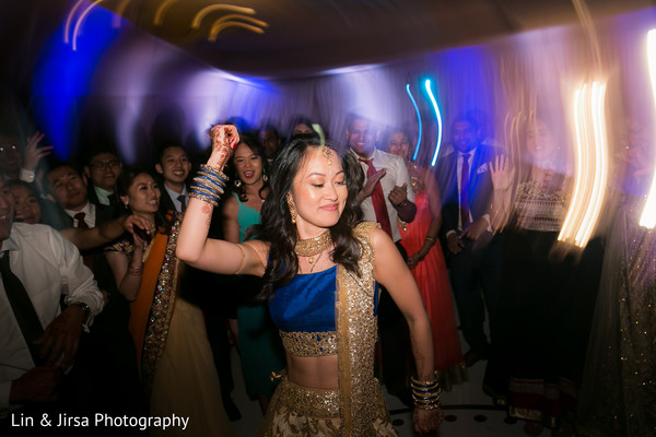 Indian bride showing some dance moves