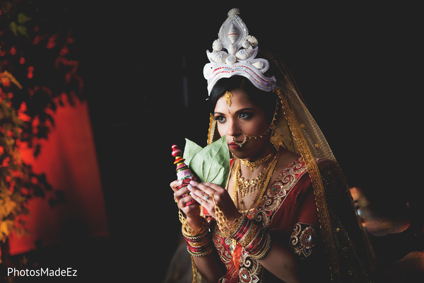 Traditional Bengali bride.