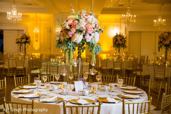 indian wedding reception,indian wedding reception floral and decor,floral centerpieces,indian wedding planning and design