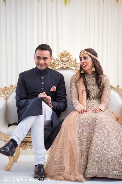 Ravishing indian couple at their reception