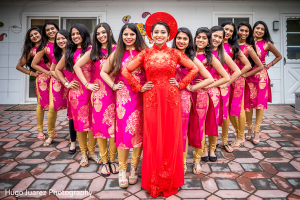 Marvelous Indian-Chinese bridesmaids.