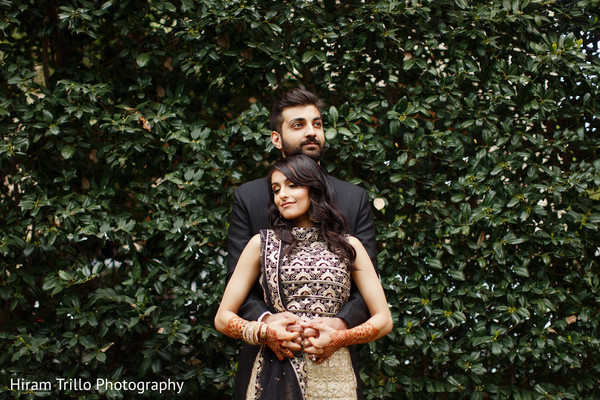 Romantic Indian bride and groom to be photo shoot.