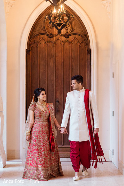 Heart melting Indian bride and groom.