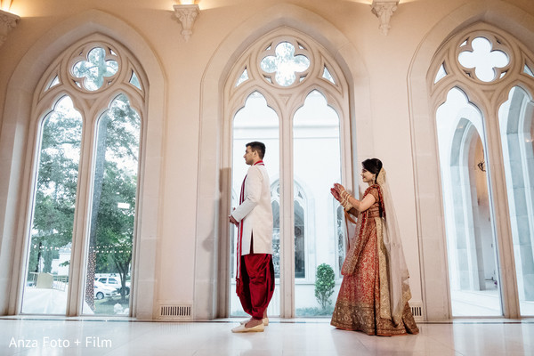 First look Indian wedding photography.