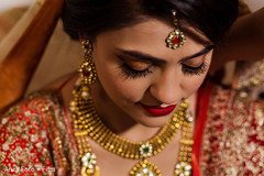 Indian bride close up portrait.