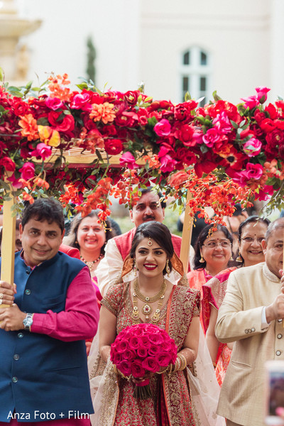 Bridal entry in amazing floral chaddar.
