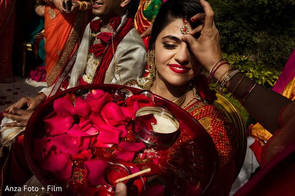 Indian bride wedding ceremony ritual.