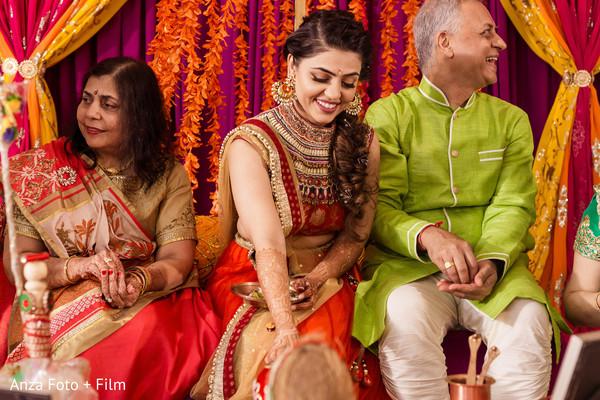 Vibrant sangeet night celebration.