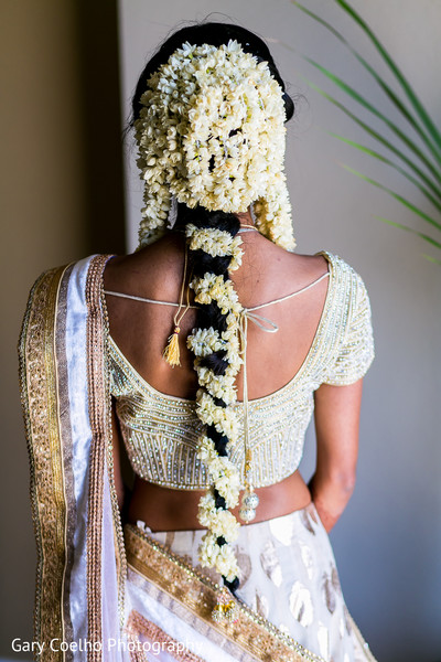 Indian bride's hair design