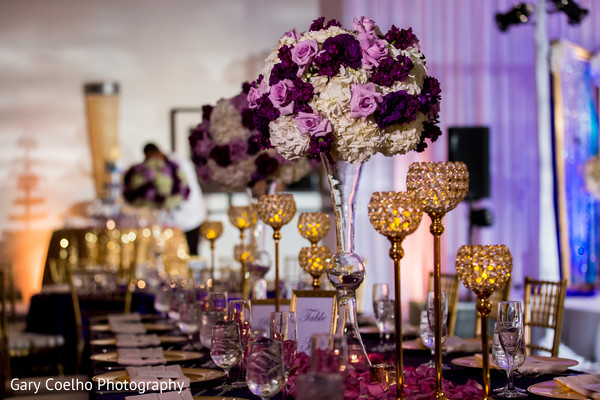 indian wedding reception,indian wedding reception floral and decor,indian wedding planning and design,table centerpieces