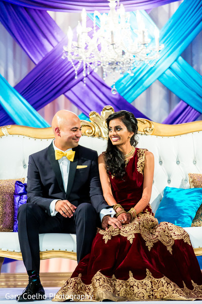 Indian bride and groom's wedding reception photography