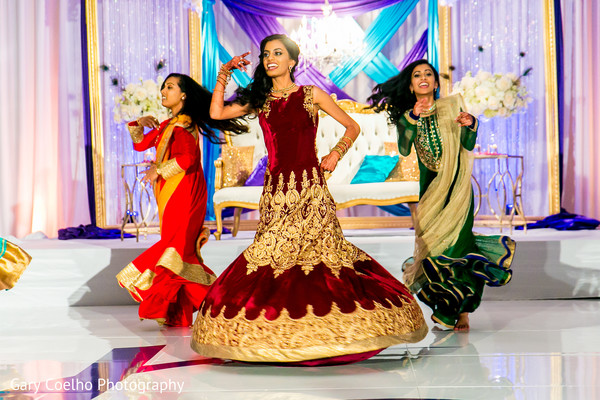 Indian bride's dance performance