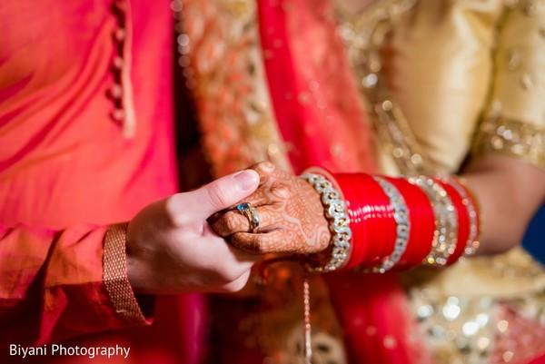 Sweet Indian wedding photo.
