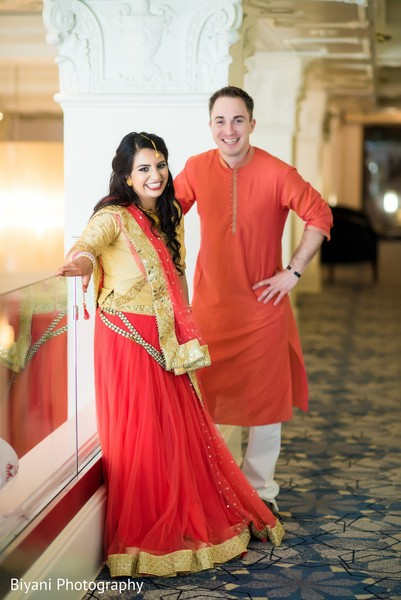 Fabulous Indian pre-wedding fashion.