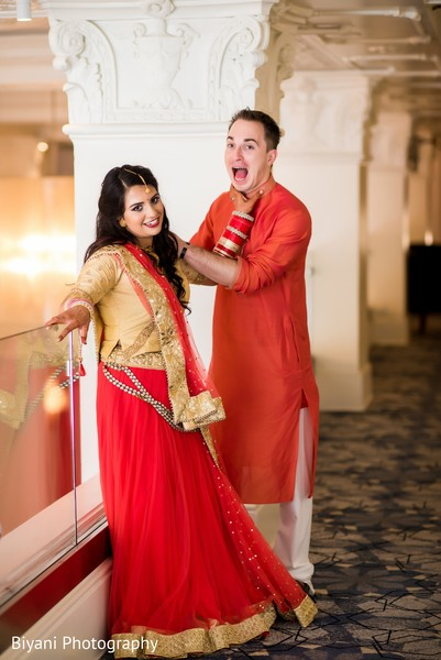 Hilarious Indian bride and groom photo shot.