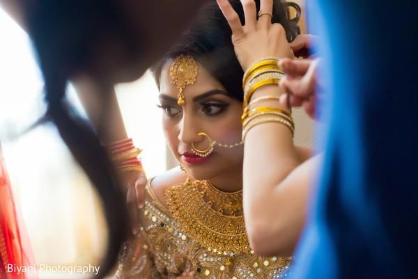 Dolled up Indian bride.