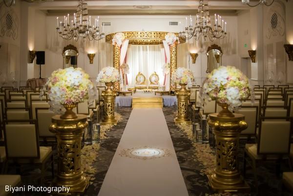 Marvelous Indian wedding  aisle decor.