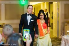 Glamorous Indian newlyweds.