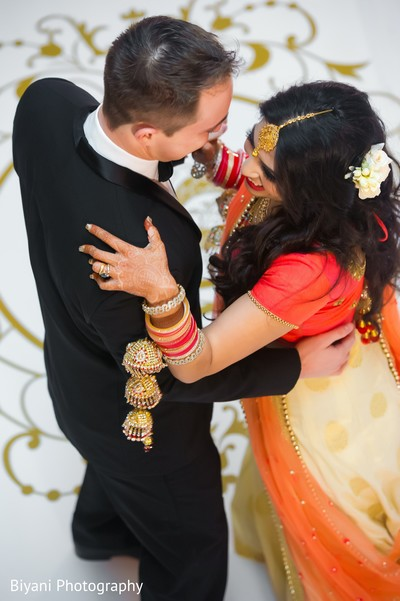 indian wedding reception,indian bride and groom,reception fashion,first dance