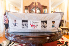 Personalized indian bride and groom cushion