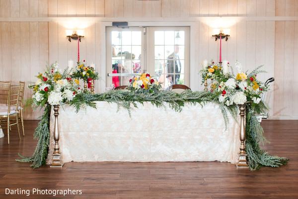 Marvelous indian lovebirds' table decor