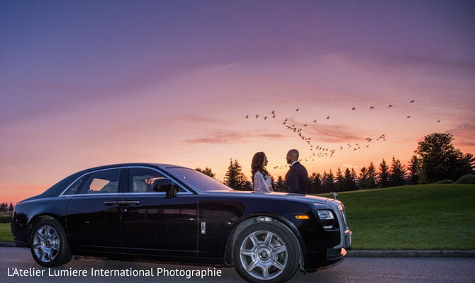 indian wedding gallery,outdoor photography,indian bride and groom,wedding car