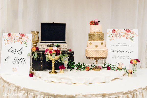 Indian wedding cake station design