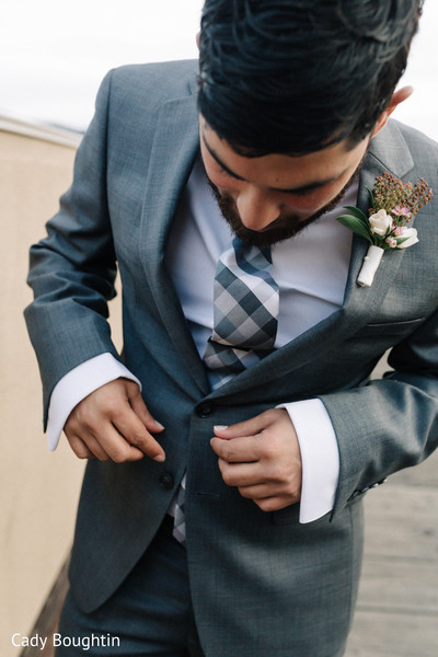 Indian groom shot