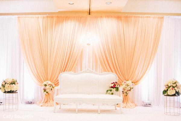 Astonishing wedding reception stage decor