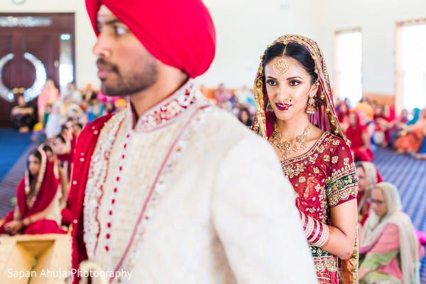 Indian wedding ceremony saptapadi ritual