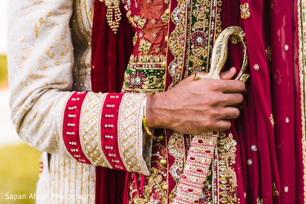 Indian groom's accessories