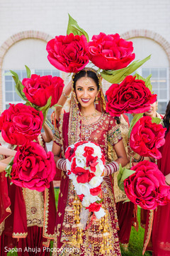 Fantastic indian bride's portrait