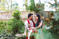 Adorable indian bride and groom capture