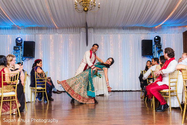 Indian newlyweds dance performance
