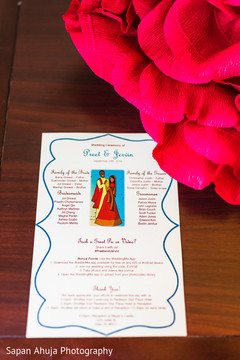 Indian wedding ceremony program
